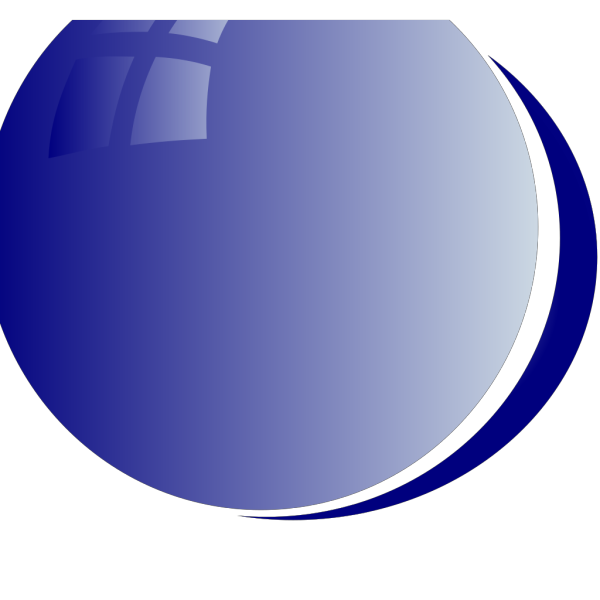 Blue Bubble Circle PNG Clip art