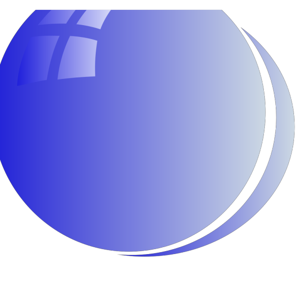 Lite Blue Bubble Circle PNG Clip art