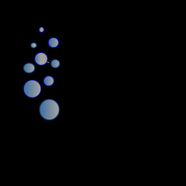 Lots Of Blue Bubbles PNG Clip art
