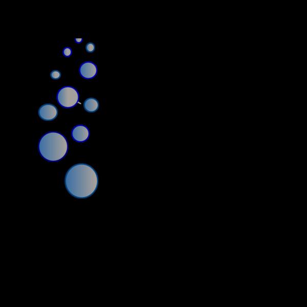 Lots Of Blue Bubbles 2 PNG Clip art