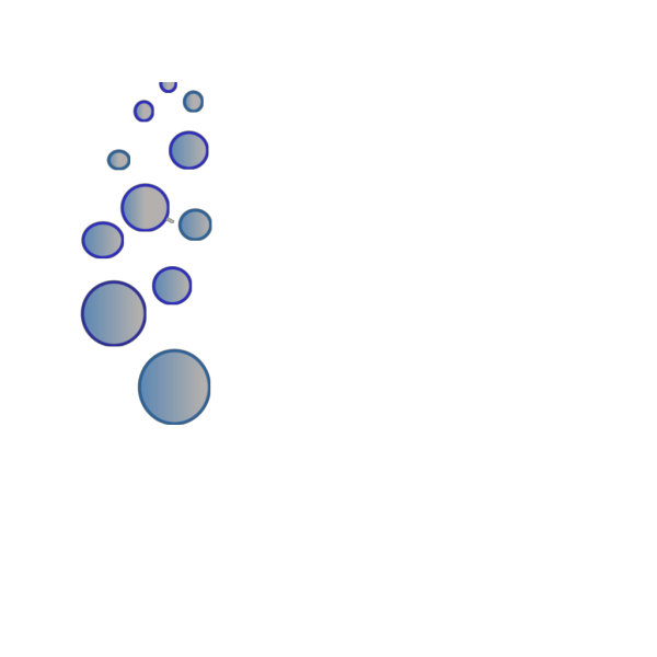 Lots Of Blue Bubbles 23 PNG Clip art