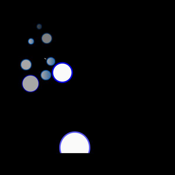Lots Of Blue Bubbles Ok PNG Clip art