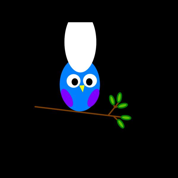 Purple Blue Owl PNG Clip art