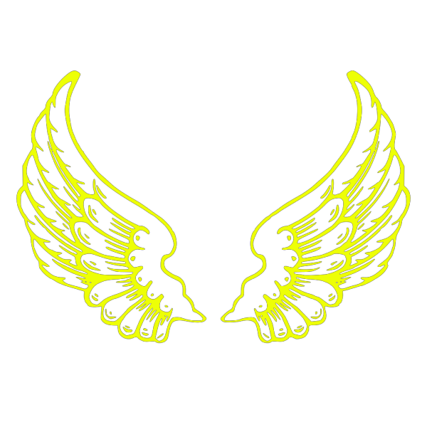 Wings, Blue, Bold PNG Clip art