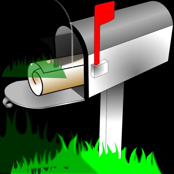 Blue Clear Mailbox PNG Clip art