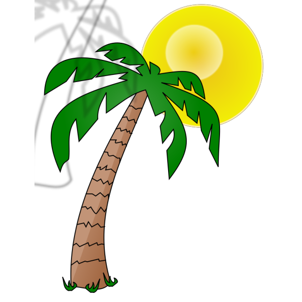 Dark Blue Palm Tree PNG Clip art
