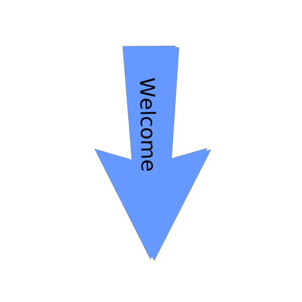 Welcome To Blue Arrow PNG Clip art