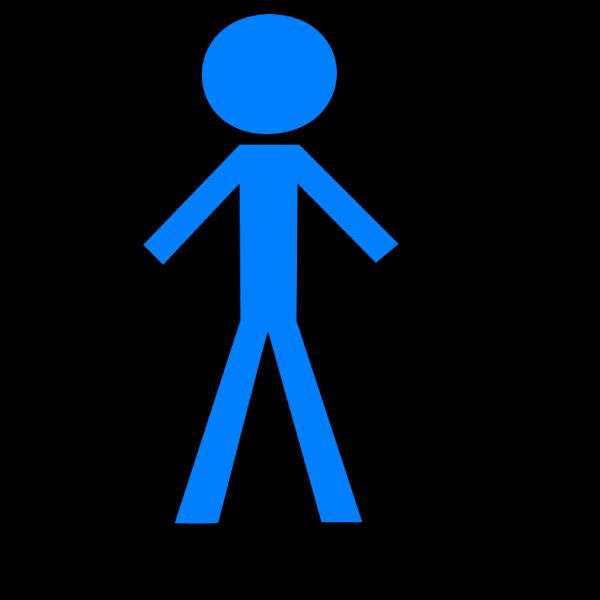 Stick Figure - Blue PNG Clip art