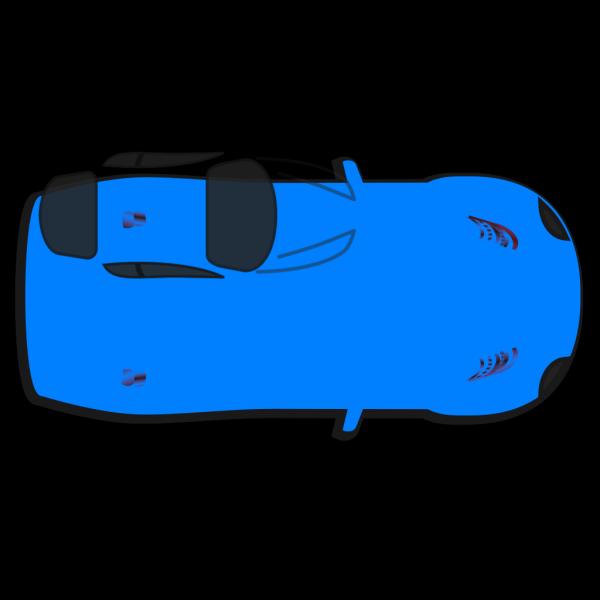 Blue Car - Top View PNG Clip art