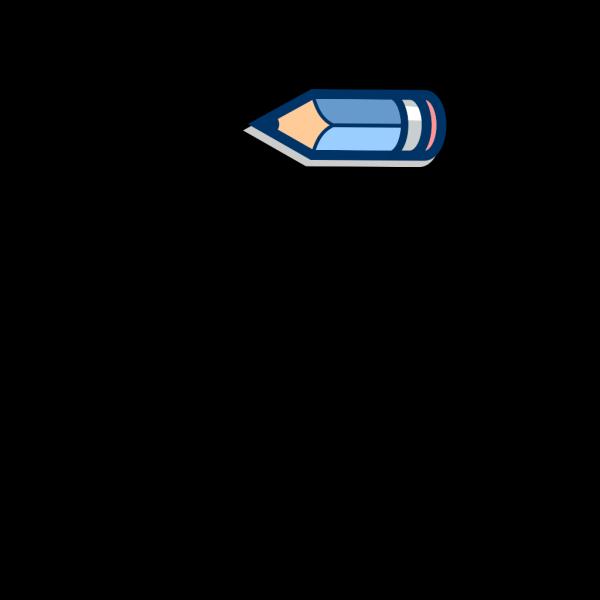 Blue Pencil Horizontal PNG Clip art