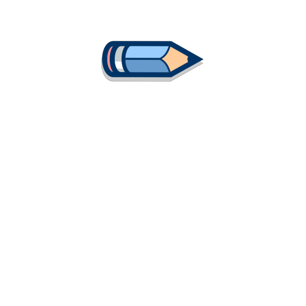 Blue Pencil Horizontal #2 PNG Clip art