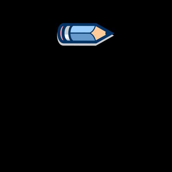 Blue Pencil Horizontal #2 PNG Clip art