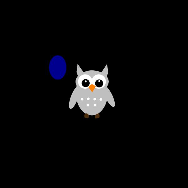 Blue Gray Owl PNG Clip art