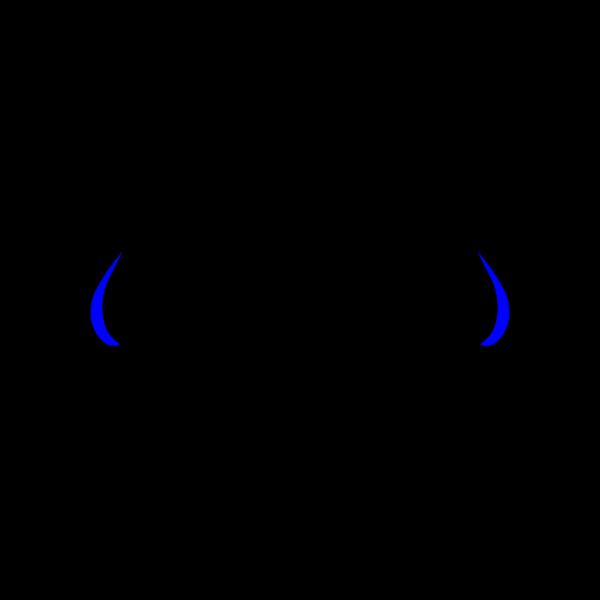 Blue Devil Hornswhite PNG Clip art