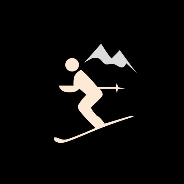 Skiing Santa PNG images