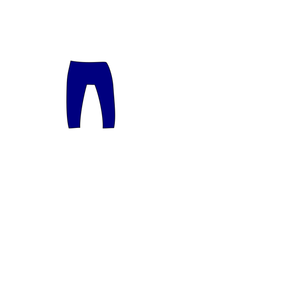 Blue Pants PNG Clip art
