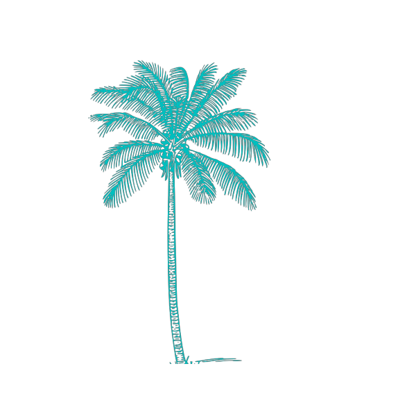 Palm Tree Sky Blue PNG Clip art