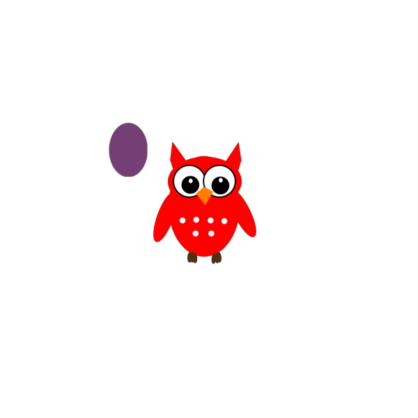 Blue And Red Owl PNG Clip art