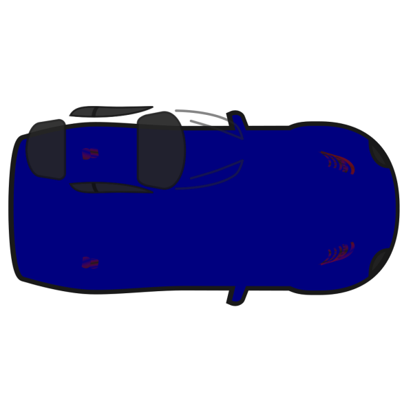 Blue Car - Top View PNG icon