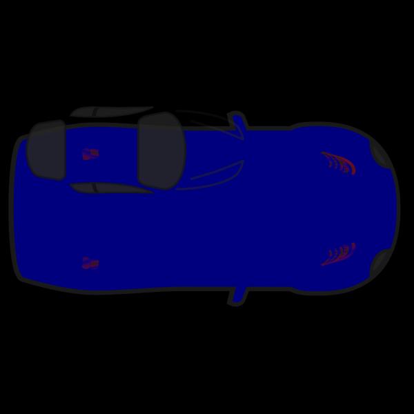 Blue Car - Top View PNG image