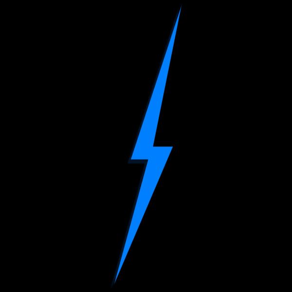 Blue Lightbolt PNG Clip art