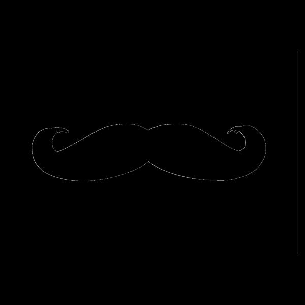 Blue Mustache PNG clipart