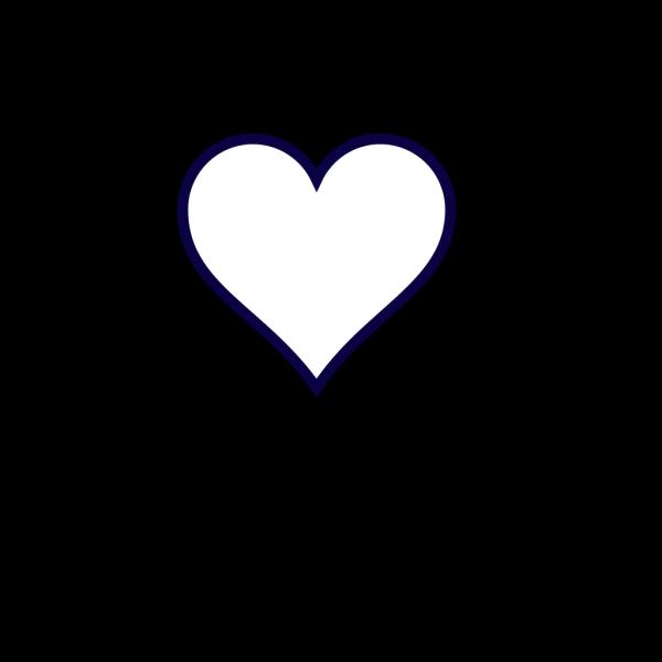 Midnight Blue Outline Heart PNG Clip art