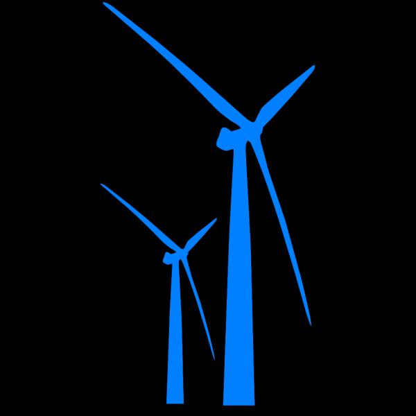 Wind Turbine Blue PNG Clip art