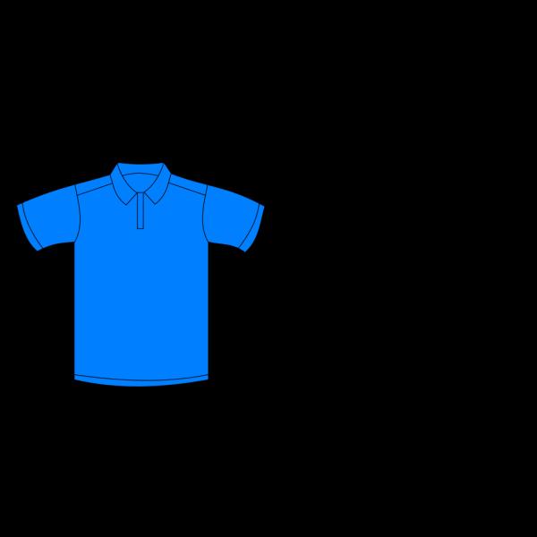 Polo Shirt Blue Front PNG Clip art