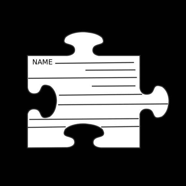 Blue Border Puzzle Piece Top PNG Clip art