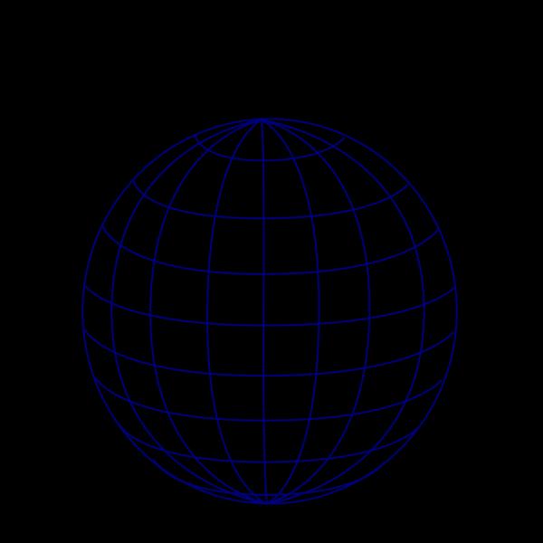 Dark Blue Wire Globe PNG Clip art