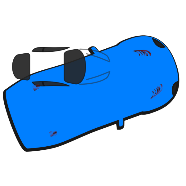 Blue Car - Top View - 20 PNG image