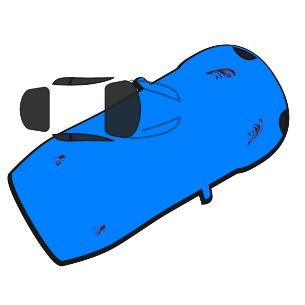 Blue Car - Top View - 30 PNG icons