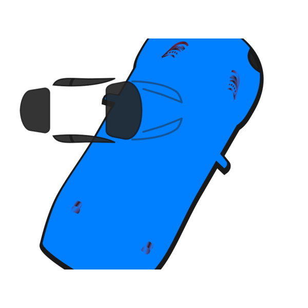Blue Car - Top View - 60 PNG image