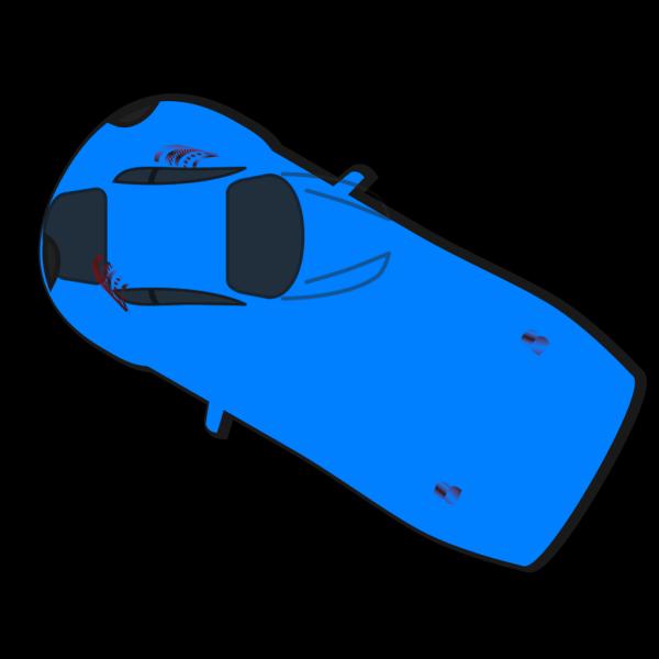 Blue Car - Top View - 150 PNG Clip art