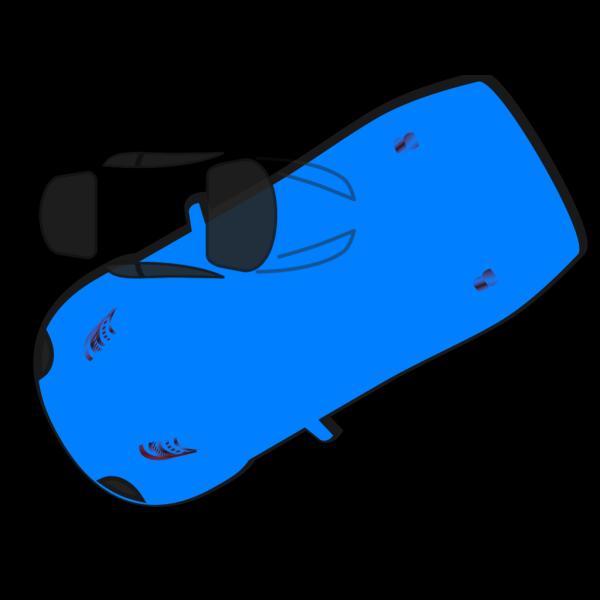 Blue Car - Top View - 210 PNG Clip art
