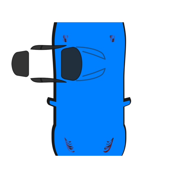Blue Car - Top View - 270 PNG icons