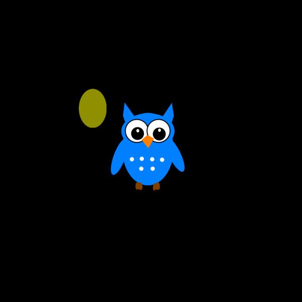 Blue/green Owl PNG Clip art