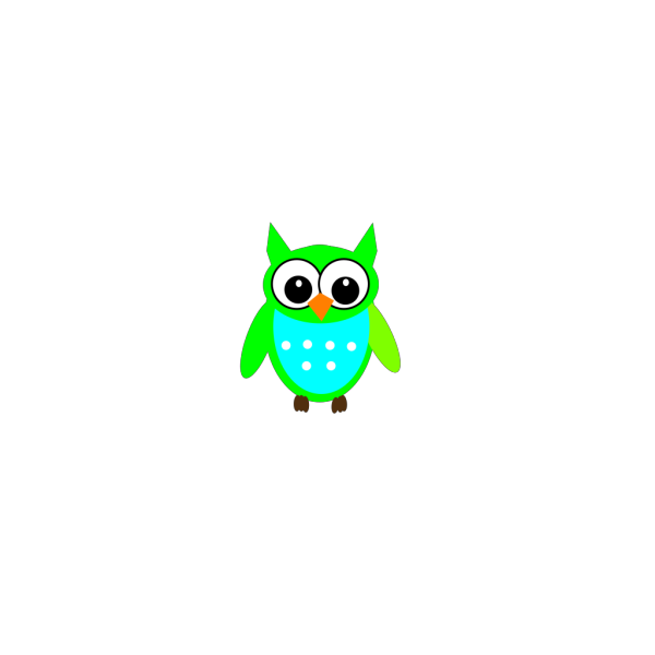Greenblueowl PNG Clip art