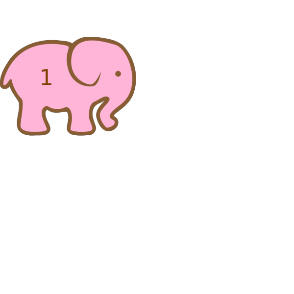 Personalized Birthday Elephant-  PNG images