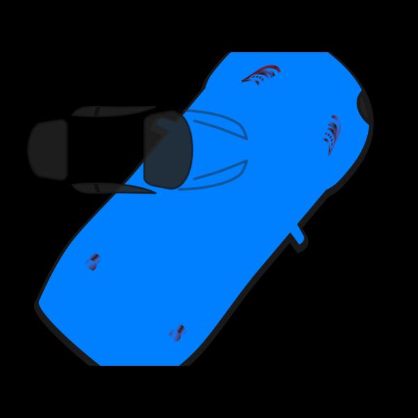 Blue Car - Top View - 50 PNG Clip art