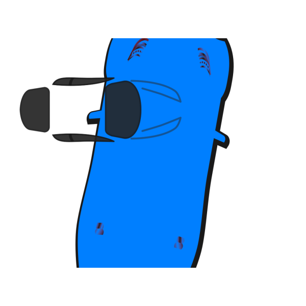 Blue Car - Top View - 80 PNG icons