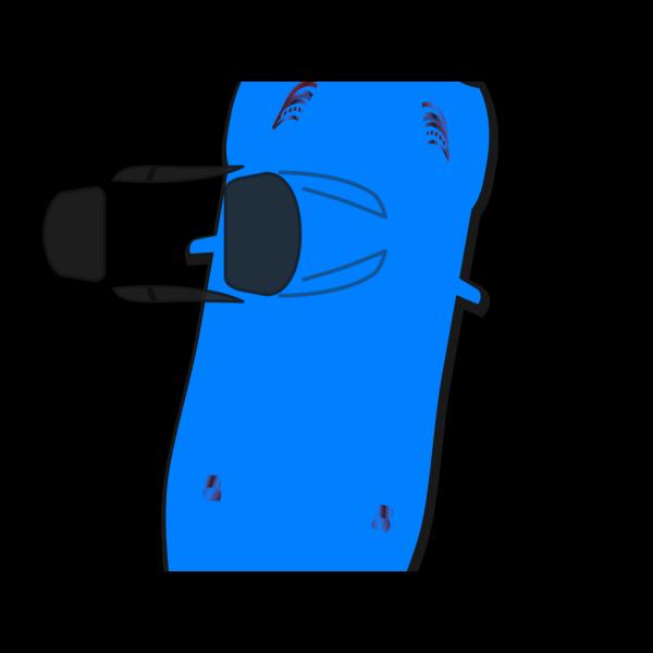 Blue Car - Top View - 80 PNG Clip art