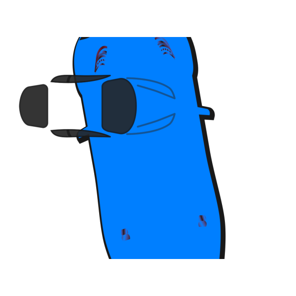 Blue Car - Top View - 100 PNG image