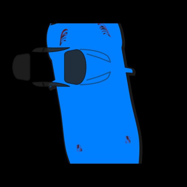 Blue Car - Top View - 100 PNG Clip art