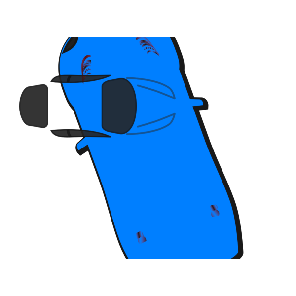 Blue Car - Top View - 110 PNG images