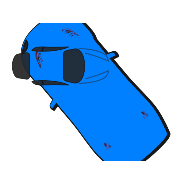 Blue Car - Top View - 130 PNG icons
