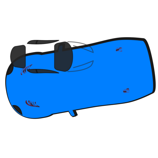 Blue Car - Top View - 190 PNG icons