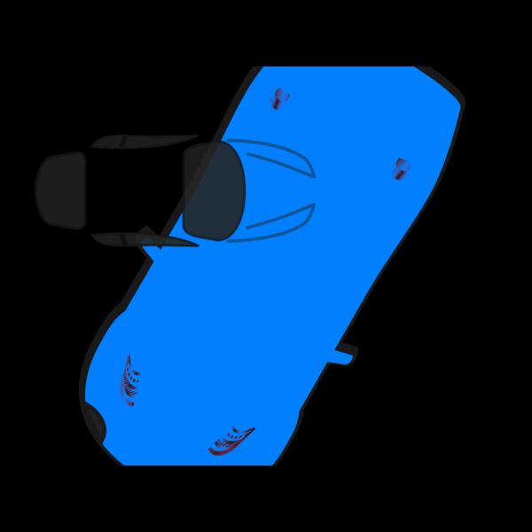 Blue Car - Top View - 240 PNG Clip art