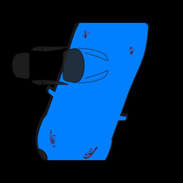 Blue Car - Top View - 250 PNG Clip art